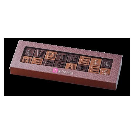 Message chocolat à personnaliser - 16 lettres